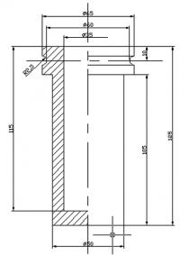 Тигель РП 6 для плавильных печей КК-4